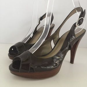 Marc Fisher Patent Leather—Peep Toe—Slingback